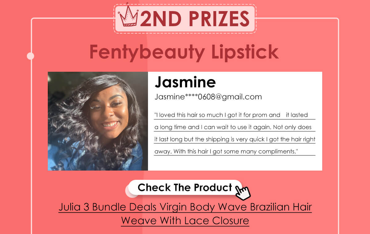 Julia 3 Bundle Deals Virgin Body Wave Brazilian Hair Weave With Lace Closure