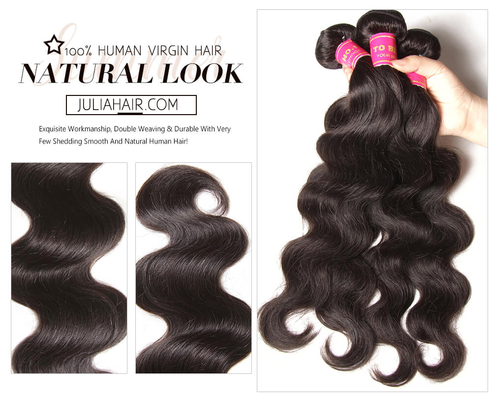 Brazilian virgin human hair weaves