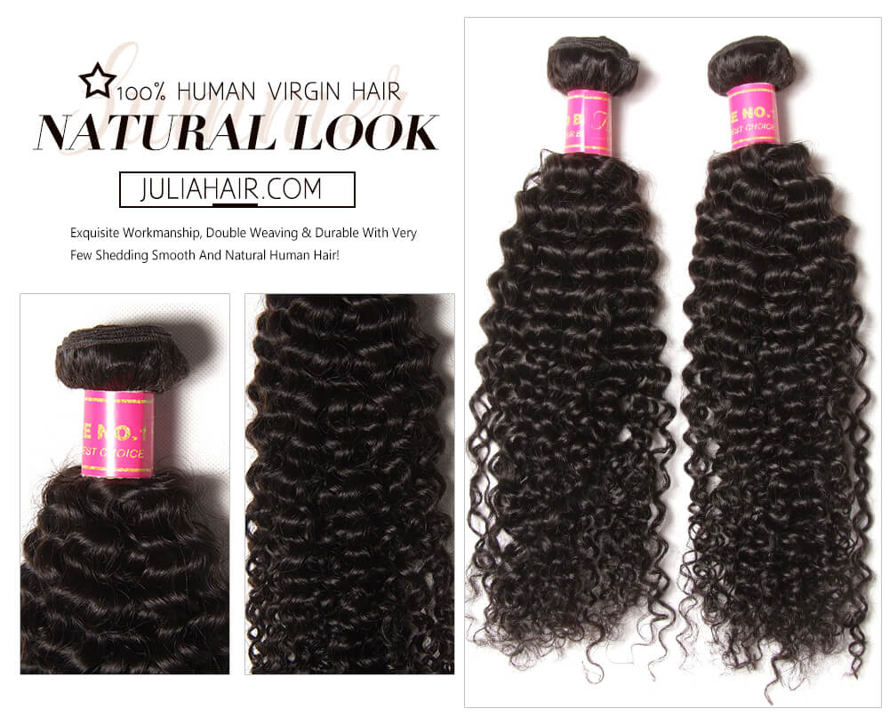 Malaysian Jerry Curly Hair Bundles