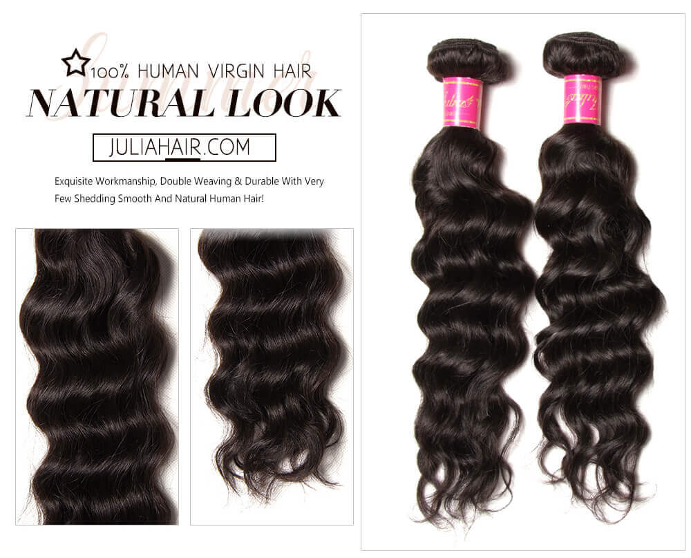 Natural Wave Hair Bundles With Frontal